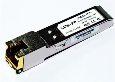 Rj45 Copper SFP 10/100/1000 BASE-T SGMII -40 ° C to + 85 ° C Industrial Temp 1.25 Gigabit Ethernet